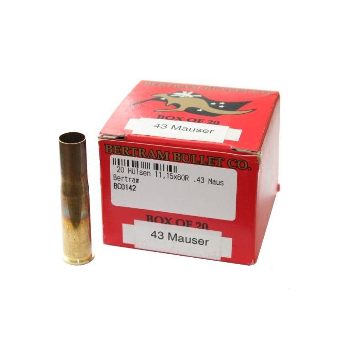 Bertram Hulzen Kaliber 11,15x60R  (.43 Mauser) per 20 Stuks