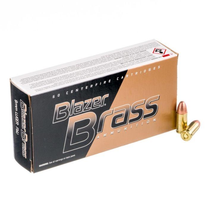 CCI Blazer Brass 9 mm Para 124 Gr. FMJ #5201
