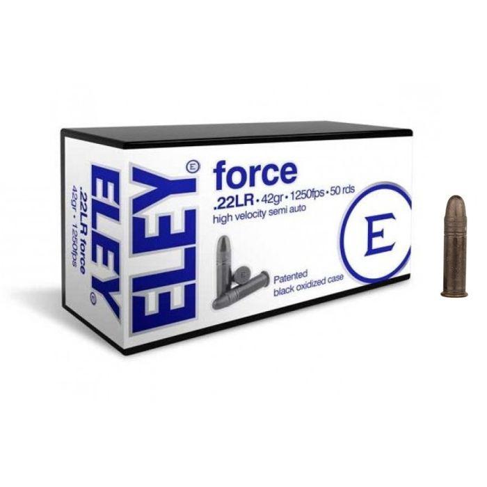 Eley Force Kleinkaliber Kogelpatronen .22 Lr. 42 Grain