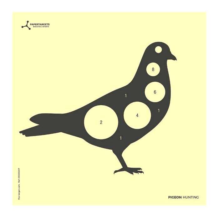 Flip-Target Schietkaarten Pigeon Hunting 14x14 cm