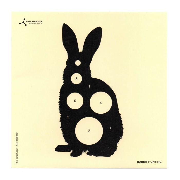 Flip-Target Schietkaarten Rabbit Hunting 14x14 cm
