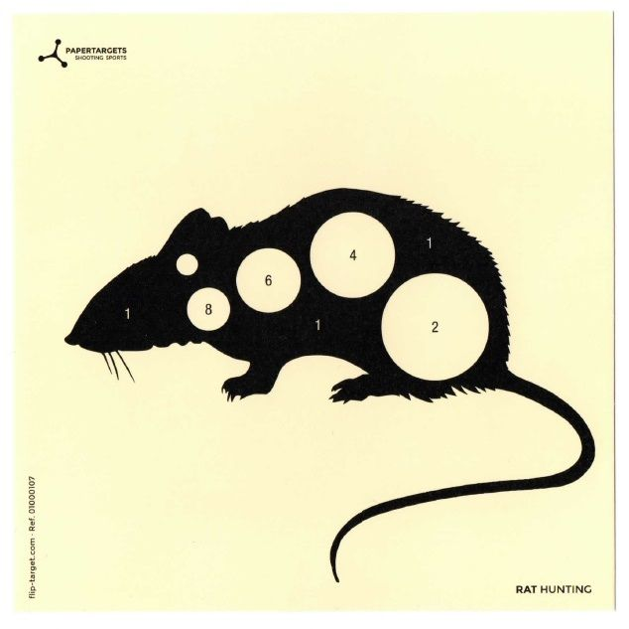Flip-Target Schietkaarten Rat Hunting 14x14 cm
