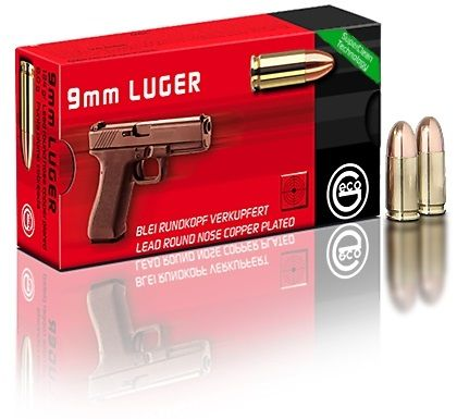 Geco 9 mm Para Lead Round Nose Copper Plated 124 Gr.