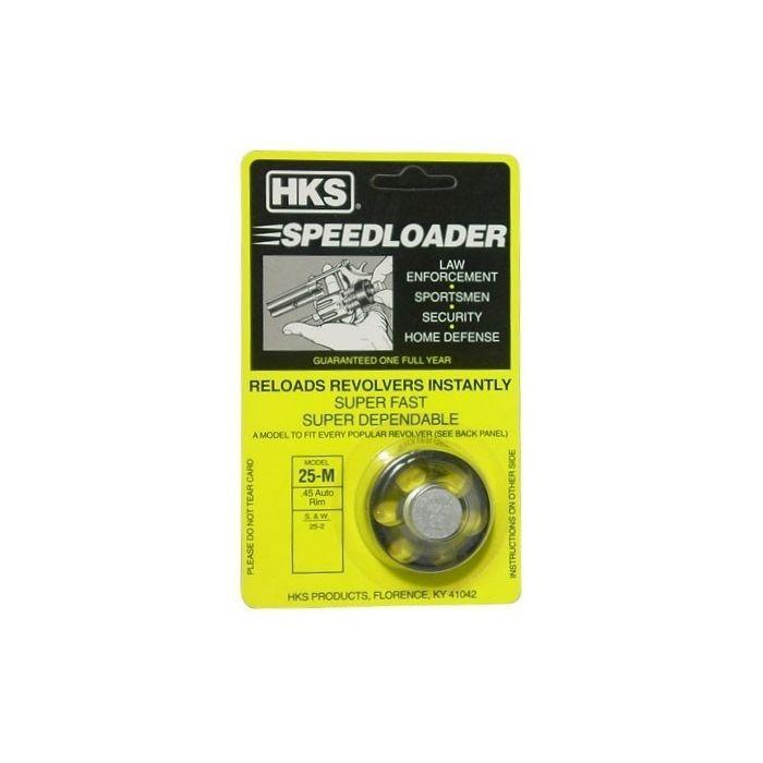 HKS Speed Loader Model 25-M voor Revolver S&W 25-2, Kal. 45 Auto Rim