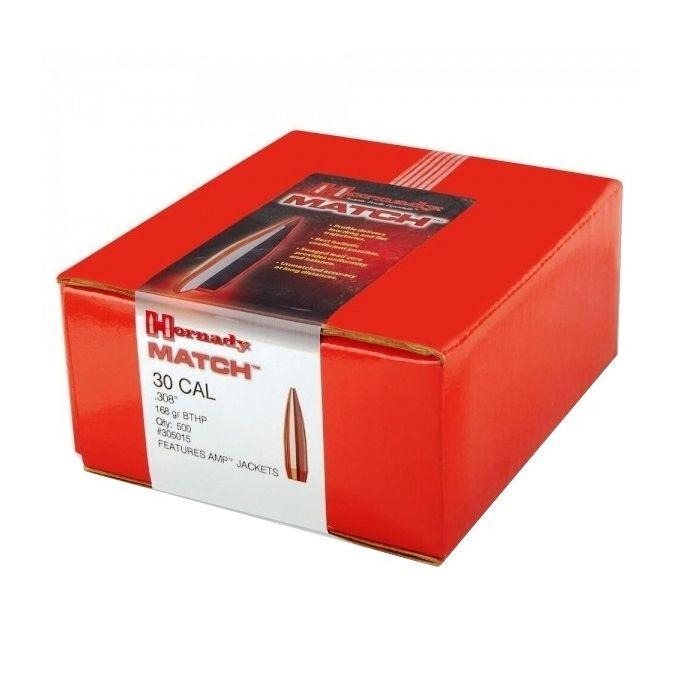 Hornady Match .30 Kaliber (.308) 168 GR. HPBT #305015 / 500 stuks