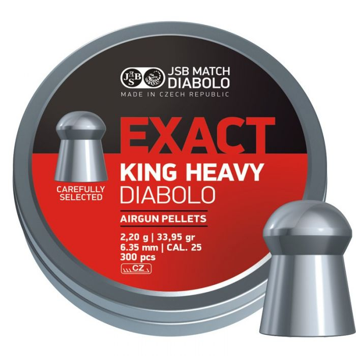 JSB Exact King Heavy Diabolo 6,35mm