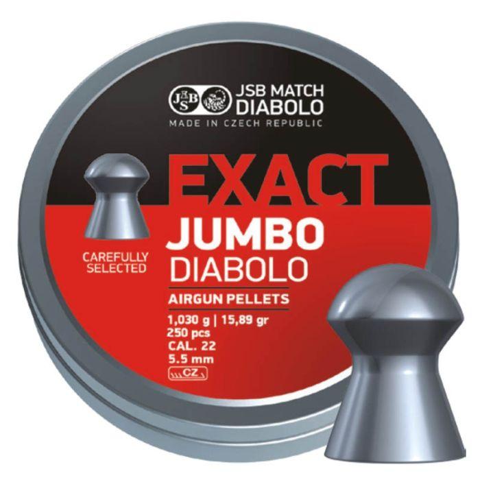 JSB Exact Jumbo Diabolo 5,5 mm 15.89 Grain 250 Stuks