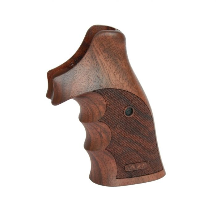 Nill Handgreep Walnoothout, Smith & Wesson K/L Frame Round Butt