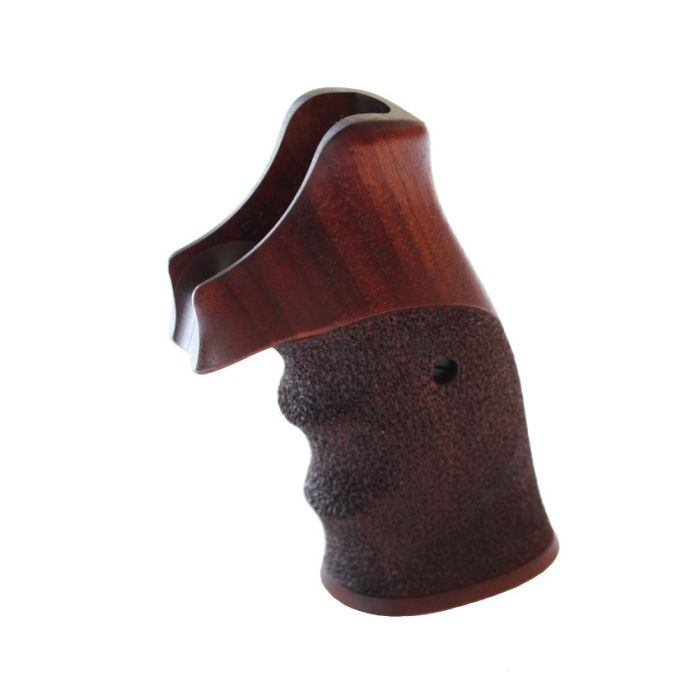 Nill 2-delig handgreep, gelakt walnoothout, Smith & Wesson KL Frame Square Butt #SW046XL