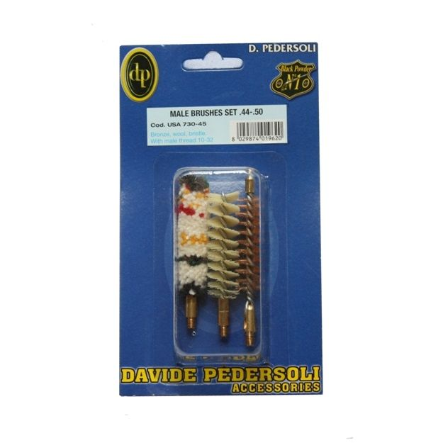 Pedersoli cleaning brushes male set kaliber .44 /.50 #USA 730-45