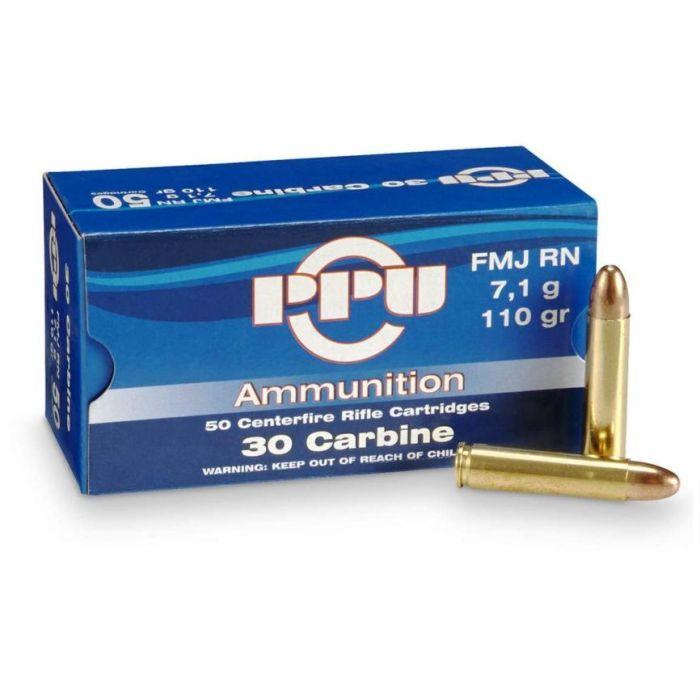 PPU Prvi Partizan kaliber .30M1 Carbine FMJ RN 110 Grain