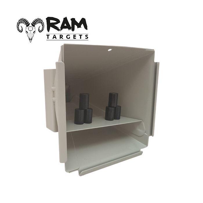 Ram Target Pyramid, Metalen Schietkast inclusief 6 Metalen Tonnetjes