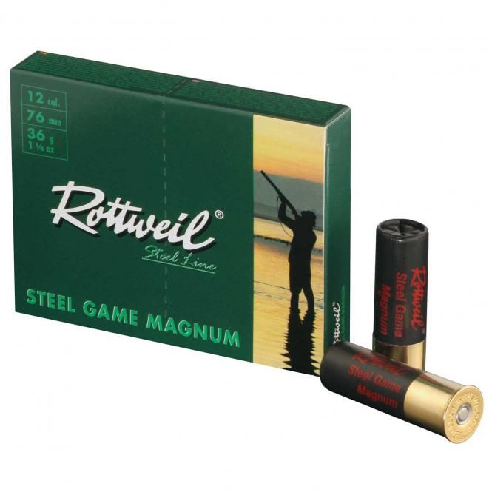Rottweil Steel Game Magnum 36 Gram Nr.3 Kal.12/76