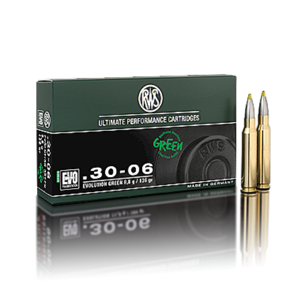 RWS 30-06 Sprfd. Evolution Green 136 Gr. Loodvrij