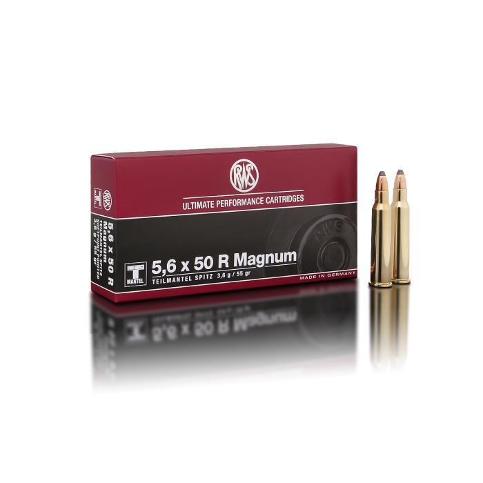 RWS 5,6x50R Magnum T-Mantel Spitz 55 Gr.