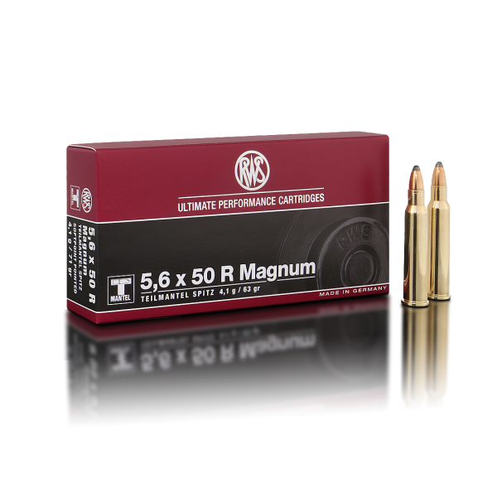 RWS 5,6x50R Magnum T-Mantel Spitz 63 Gr.
