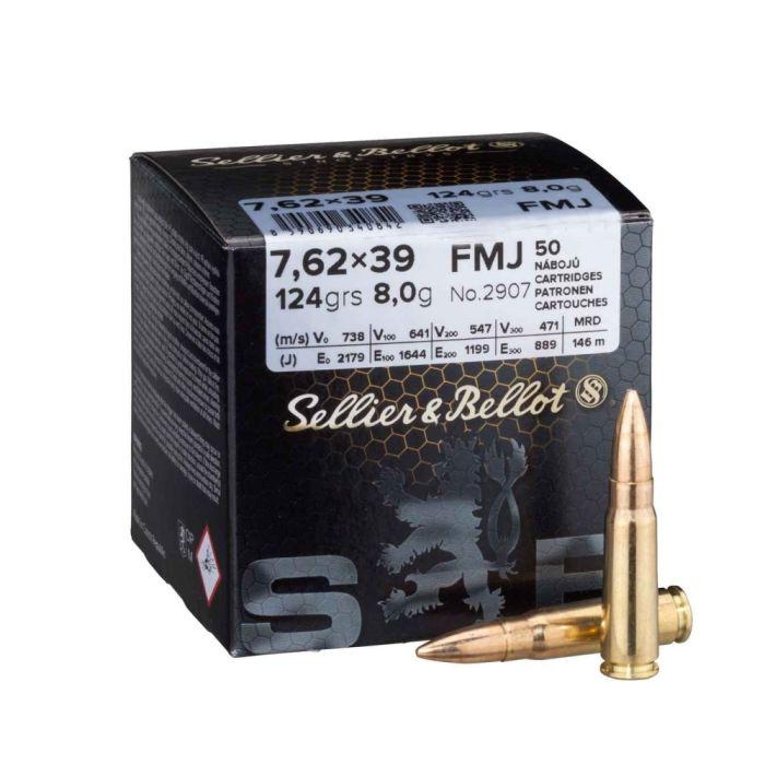 Sellier & Bellot 7.62x39 Training 123 Gr. 50 Stuks