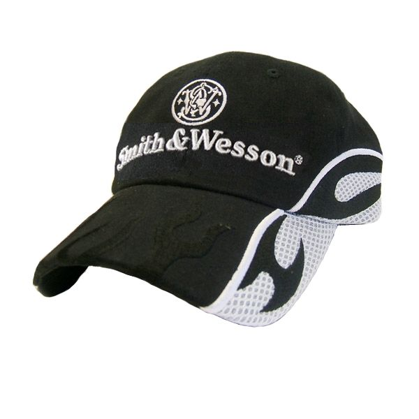 Smith & Wesson Black Twil Cap, Racing Stripes