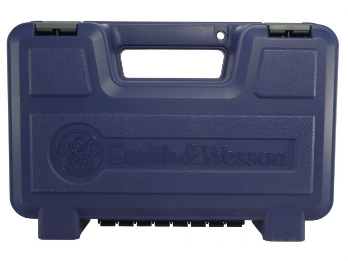 Smith & Wesson Blauwe Kunststof Pistool/Revolver Koffer, Small