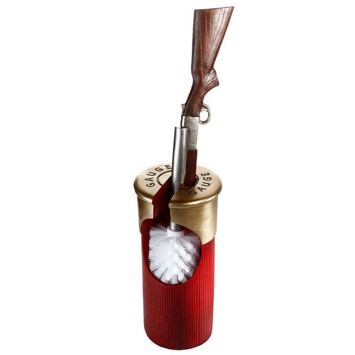 Toiletborstel Hagelpatroon met Jachtgeweer