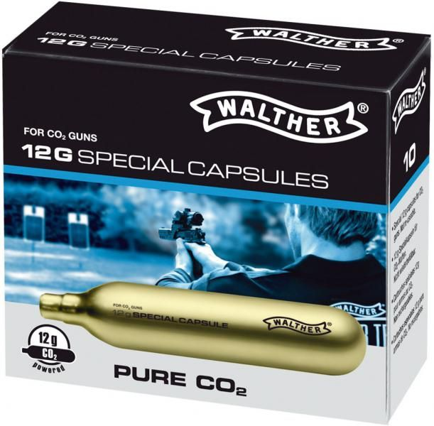 Walther Pure CO2 Capsules 12 Gram 10-Pack