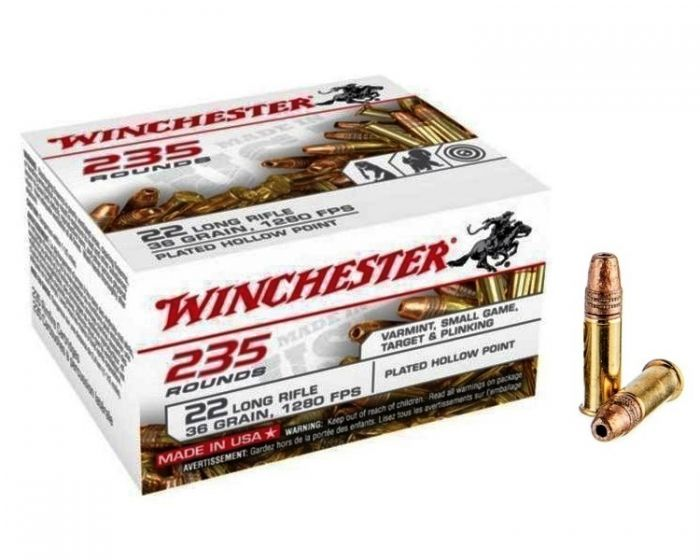 Winchester 36 Grain Copper Plated Hollow Point Bulkverpakking 235 Patronen