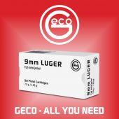 Geco 9 mm Luger FMJ 115 Gr. White Box