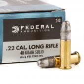Federal Champion #510 .22 LR. High Velocity 40 Grain Lead Round Nose