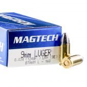 Magtech 9mm Para 124 Grain Lead Round Nose