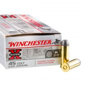 Winchester 45 Colt 250 Grain Lead Flat Nose Super-X Cowboy Action