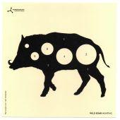Flip-Target Schietkaarten Wild Boar Hunting 14x14 cm