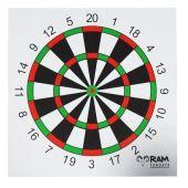 Ram Targets, schietkaarten maat 14X14 model DART 100 stuks