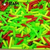 Ram Schietpijpjes Gekleurd Kunststof, 500 Stuks