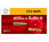Sellier & Bellot .223 Rem. Match HPBT 69 Gr.
