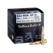 Sellier & Bellot .222 Rem. SoftPoint 50 Gr. / 100 stuks